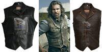 Men's Hell on Wheels Celebrities Cullen Bohannan Real Leather Vest XS S M L XL