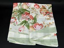 NWOTS (2) Waverly Scalloped Garden Lane Pink Tulip Rod Pocket Curtain Valances