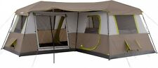 Family Camping Tent 10 - 12 Person 3 Room Cabin Instant Setup 16' X 16' Outdoor