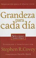 Grandeza para cada día: Inspiración para el diario vivir (Spanish-ExLibrary