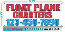 FLOAT PLANE CHARTERS w CUSTOM PHONE Banner Sign NEW Larger Size High Quality!