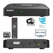 Edision Ping IPTV Full HD 1080p Receiver Box Linux OTT H.265/HEVC klein schwarz