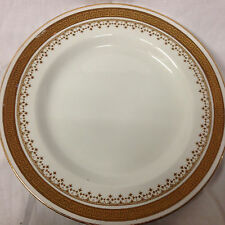 "BOOTHS CHINA THE MARQUIS BREAD & BUTTER PLATE 6 1/8"" GREEK KEY FLEUR DE LYS GOLD"