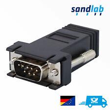 Konsolen Adapter, D-SUB 9-Pol Seriell COM DB9 RS232 zu RJ45 Ethernet Buchse