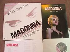 MADONNA Who's That Girl-Live in Japan JAPAN Laser Disc LD 08WL-35 Promo Program