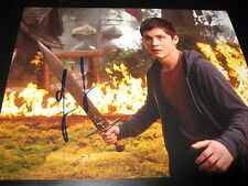 LOGAN LERMAN SIGNED AUTOGRAPH 8x10 PHOTO PERCY JACKSON PROMO IN PERSON COA NY D