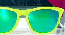 NEW* Oakley Frogskins Retina Green tiger w Jade Iridium lens Sunglass 9013