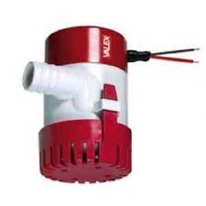 Pompa sommersa acque chiare Valex ES550 1370823 12V per locali allagati