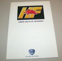 Prospekt  / Broschüre Lancia Delta HF Integrale | Ausgabe 1991