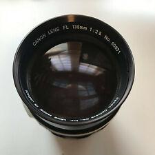 CANON FL 135mm f2.5 Lens 'GOOD USED'