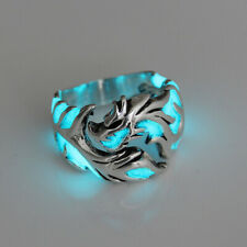 Punk New Cool Mens Boys Luminous Dragon Ring Vintage Jewelry Club Pub Band Rings
