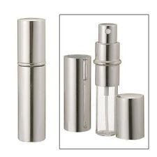 Silver Refillable Travel Size Perfume Bottle Spray, 12ml .41oz L6