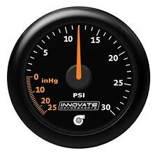 Innovate 3908 MTX Analog Gauge Kit - VACUUM to 30 PSIG Boost Black Faceplate