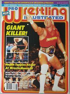 Pro Wrestling Illustrated August 1987 New Hulk Hogan Andre WWF WCW NWA
