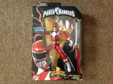 BANDAI MIGHTY MORPHIN POWER RANGERS LEGACY METALLIC EDITION WITH WEAPONS Red