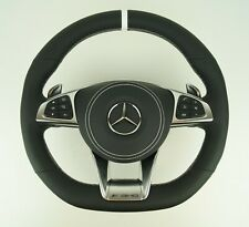 Le illustrée ® cuir noir volant pour Mercedes-Benz AMG w222 c217 w205 c190 GTR