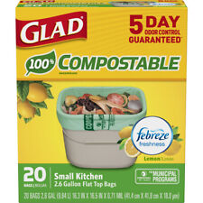 Glad  OdorShield  2.6 gal. Compost Bags  Quick Tie  20 pk