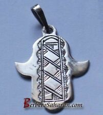 in silver from Algeria style 2 Hand carved Tuareg Hand of Fatima