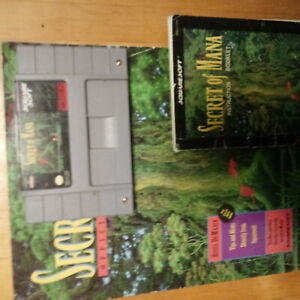 Snes secret of mana game manual and guide guidebook NO RESERVE FREE US SHIP