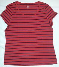 tshirt rouge ligné noir - taille L