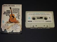HANK WILLIAMS' GREATEST HITS 1961 CASSETTE TAPE MGM AMPEX MGX 53918 PAPER LABELS
