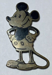 Original Micky Mouse um 1930 Messing emailliert Sticker Sammlerstück ca. 30 mm