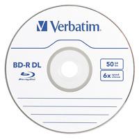 20 pack VERBATIM 6X Blu-Ray BD-R DL Dual Layer 50GB Branded Logo in Paper Sleeve