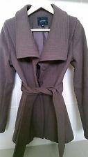 PORTMANS Wool Brown Coat Waist Tie Size 6