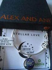 Alex and Ani STELLAR LOVE Expandable Bracelet Shiny Silver NWTBC