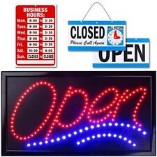 Neon Open Sign For Business Jumbo Lighted With Flashing Mode Large Indoor Up (24