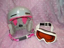 """Smith Allure Ski / Snowboarding Helmet Size X-S (52-54cm) w/ goggles"""