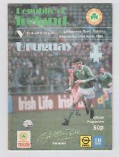 Original PRG     23.04.1986    IRLAND - URUGUAY  !!  SELTEN