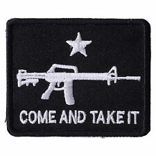 COME AND TAKE IT BLACK FLAG TEXAS REVOLUTION Iron On Biker Vest Jacket Patch P99