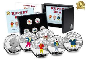 The WORLD'S FIRST Rupert Bear Silver Proof 50p Set Ltd EDT 2495 Worldwide