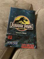 Jurassic Park SNES Super Nintendo Instruction Manual Only - Good