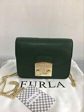 FURLA METROPOLIS Mini Crossbody Bag Moss Green Auth