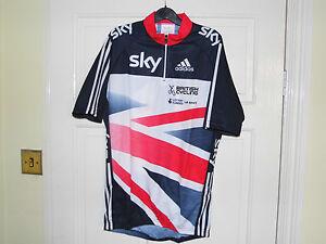 Adidas NEW SKY BLUE TOP team GB cycling bike jersey rider issue top shirt BNIB