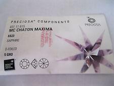 Full package of 720 Preciosa MAXIMA Rhinestones in 23ss Sapphire color/foiled.
