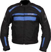 Buffalo Modena Black Blue Textile Waterproof Motorcycle Jacket New £79.99!!