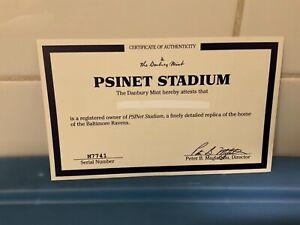 Danbury Mint  -  Baltimore Ravens PSINET Stadium  -   C.O.A