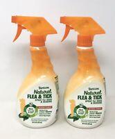 2-Pk TropiClean Natural Flea & Tick Spray for Dogs & Bedding, Maximum Strength