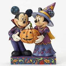 Disney*VAMPIRE MICKEY & WITCH MINNIE MOUSE*Jim Shore*NEW*NIB*Halloween*4051978