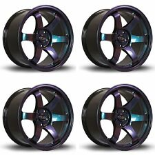 "4 x Rota Grid Neo Chrome Alloy Wheels 17x7.5""|ET45|4x108 PCD|73mm Centre Bore"
