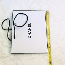 Authentic CHANEL White Paper Shopping Gift Bag 10