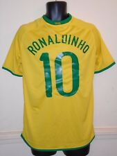 Brazil Home Shirt World Cup 2006 RONALDINHO 10 medium men's #1262