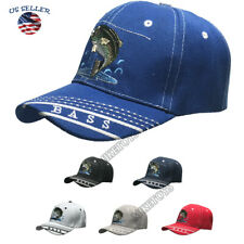 FISHING hat cap FISH Embroidered Outdoor Sports Bass Camouflage Baseball cap NEW