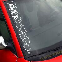 GTI Aufkleber 50cm HEXA Waben Aufkleber  Sticker Frontscheibe Cyber Hexagon