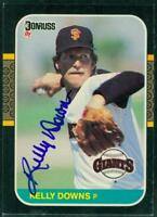 Original Autograph of Kelly Downs of the San Francisco Giants on a 1987 Donruss