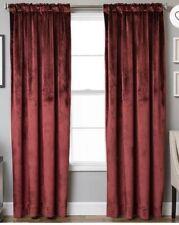 "Velvet Rod Pocket,back Tab Linedwindow Curtain Panel 52""X95"" Crimson"
