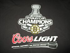 Coors Light Beer 2011 BOSTON BRUINS Stanley Cup Champions (XL) T-Shirt